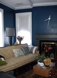 Dark Blue Living Rooms in this photograph on the subject of simple living room interior