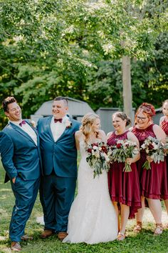 Nick and Alexa were married in the beautiful countryside on a warm summer day. Their wedding was a classic country wedding with burgundy and navy details, lots of beautiful abundant florals, and rolling hills in the background creating a beautiful setting. Their barn reception was rustic and classic. | #wedding #country #classic #burgundy #navy Country Barn Weddings, Wedding Country, Rustic Wedding, Wedding Tips, Summer Wedding, Diy Wedding, Bridesmaids, Bridesmaid Dresses, Wedding Dresses