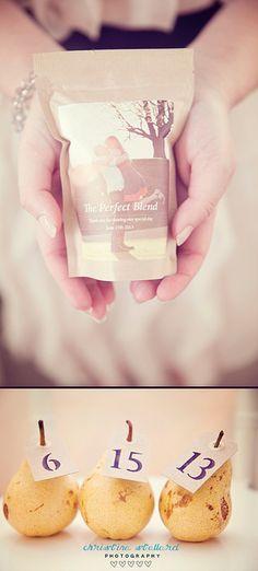 awesome coffee wedding favor idea. via Christina Stallard Photography  Inn at Oneonta