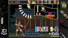 The Revenge of Shinobi (Mega Drive) Gameplay Fase 1-2 e Chefe