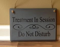 session in progress please do not disturb door hanger wood hand painted custom hanging door sign front door sign therapy massage counseling