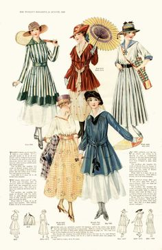 1916 Woman's Magazine Fashion Plate #1