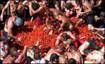 La Tomatina Festival Tomato Fight in Spain.  Complete list of Spanish festivals