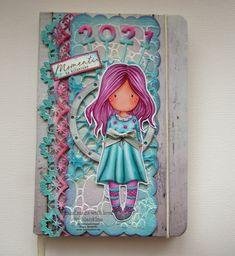 Blankina creations: Murrillo : Un giorno speciale notebook Gorjuss Marianne Design, Copics, Tim Holtz, Stencils, Notebook, November, Templates, Stenciling, The Notebook
