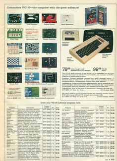 '80s Catalog featuring Commodore Vic-20