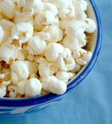 Vanilla Popcorn - this is great at Christmas time, just put in a nice bowl, wrap in plastic with a gold bow and it's a beautiful presentation