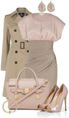 Pink & tan. Get Smart Agent 99 look #outfits