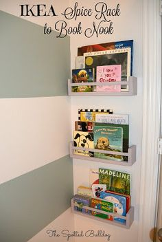 The Spotted Bulldog: Turning an IKEA Spice Rack into a Cute Book Nook