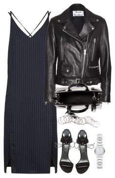 Untitled #2100 by ritavalente on Polyvore featuring polyvore, moda, style, Topshop, Acne Studios, Stuart Weitzman, Yves Saint Laurent, Burberry, H&M, fashion and clothing