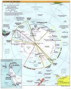 Mapa Políticoterritorial del Continente Antártico