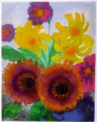 Sommerblumen, 1930 - 1935 Emil Nolde, Art File, Watercolor Flowers, Fine Art, Passion, Paintings, Artists, Art, Summer Flowers