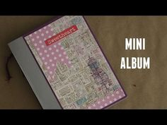 Mini Álbum + Encuadernación sencilla - YouTube