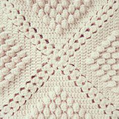 ByHaafner, crochet, popcorn, bobble stitch throw, blanket, powder pink, Tutorial ✿⊱╮Teresa Restegui http://www.pinterest.com/teretegui/✿⊱╮
