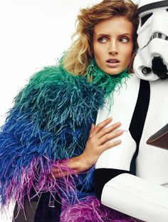 Fashions love affair with star wars On the Dark Side: Fanny François for Harper's Bazaar Spain by Gonzalo Machado