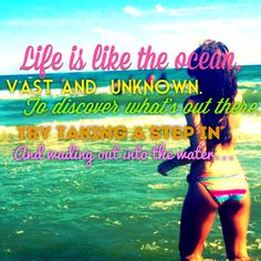 Life is like the ocean... #quote #beach