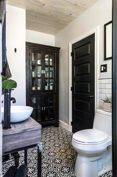 I love black doors in a house