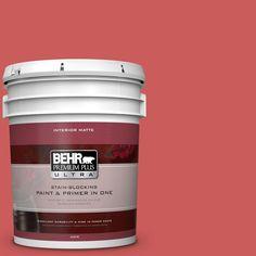 BEHR Premium Plus Ultra 5 gal. #P160-5 Pinkadelic Matte Interior Paint