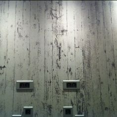 White washed wood design wall paper for our rooom =)