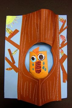 Sierra:  Autumn Pop-Up Trees and Owl (2nd grade)