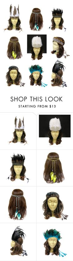"""""""Feather Headband, Feather Headdress"""" by curtainroad ❤ liked on Polyvore"""