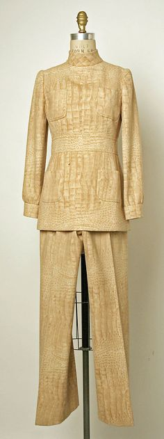 Ensemble, Valentino, 1969. Worn by the fab Jayne Wrightsman.