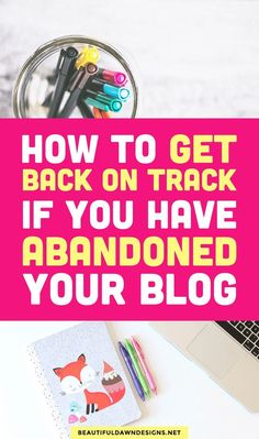 Due to the amount of work it takes to run a successful blog, you may find yourself lacking consistency with your blog, or abandoning your blog altogether. If you blog has been collecting cobwebs, here are a few things you can do to get back on track with