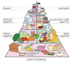 رژیم غذایی روزانه بر اساس هرم غذایی