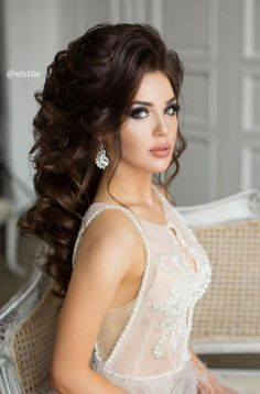 Featured Hairstyle: Elstile; www.elstile.ru; Wedding hairstyle idea.