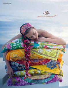 Hermes Scarf Pillows