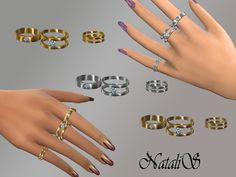 The Sims Resource: Multi rings set by NataliS • Sims 4 Downloads