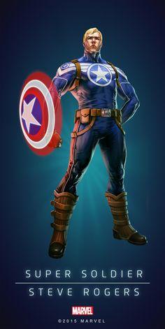 Steve Rogers Super Soldier Poster-01