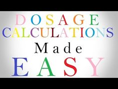 Dosage Calculations Made Easy | Nursing Drug Calculations | Med Math: Ev...