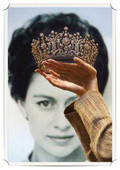tiara Poltimore antiga da coleção da princesa Margaret antes do leilão em Hong Kong, sexta-feira 26 de maio de 2006