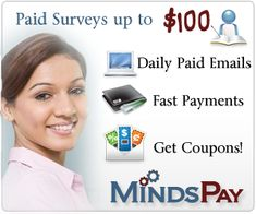 Join MindsPay and Earn Money From Home - Make Money on Internet Free Online Surveys That Pay, Survey Sites That Pay, Surveys For Money, Paid Surveys, Ways To Earn Money, Earn Money From Home, Money Tips, How To Make Money, Money Fast