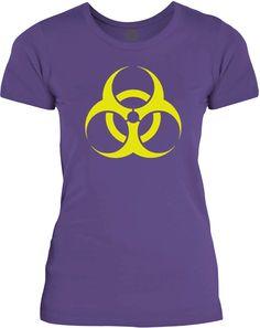 Big Texas BioHazard (Yellow) Womens Fine Jersey T-Shirt