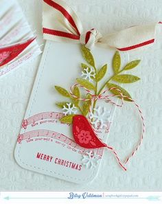 Merry Christmas Tag by Betsy Veldman for Papertrey Ink (October 2014)