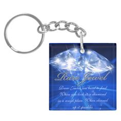 Rare Diamond Jewel Square Acrylic Keychain