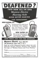 Western Electric Hearing Aids 1948 Ad Picture