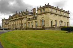 Harewood House (1) The back view of Harewood House, an 18th century stately home near Leeds, Yorkshire, on a wet day.