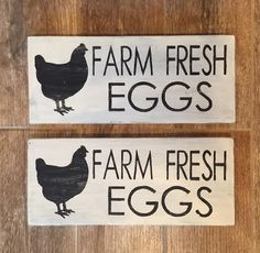 Rustic Farm Fresh Eggs Wood Painted Sign Farm Fresh by WentGoods Dark Stains, Painted Signs, All You Need Is, Painting On Wood, Eggs, Rustic, Fresh, Gallery, Handmade Gifts