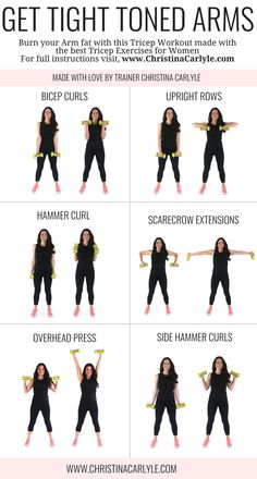 Arm Workout for Women | Posted By: CustomWeightLossProgram.com