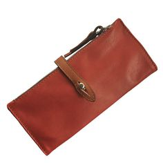 Leather Wallet  Women's Handmade made in Red color  named