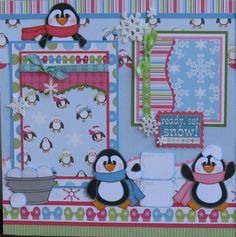 scrapbooking layouts | Paper Crafts Ideas | Project on Craftsy: Penguins Scrapbook Layout