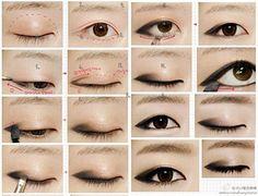 Asian Eye Make up Style