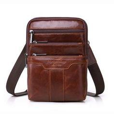 2f20918d6 22.75 40% de DESCUENTO MEIGARDASS de cuero genuino bolsos de mensajero para  hombres bolso de hombre de viaje paquete hombre ipad bolso bandolera bolso  en de ...