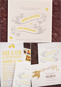 LOVE this invitation suite! It's short and sweet, classy, and wonderfully retro.