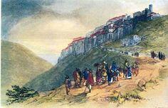 La Brigantessa di Sonnino: Sonnino 18 Luglio 1819Edward Lear(British, 1812-1...
