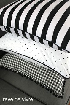Black & white pillows