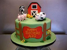 barnyard birthday cake | Farm-Cake