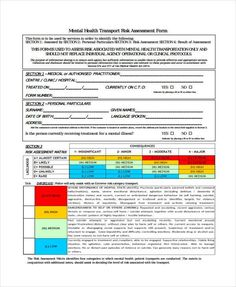 Mental Health Assessment Form Template | Sample Mental ...